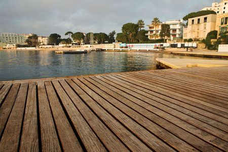les: Private harbor in Juan Les Pins, France Stock Photo