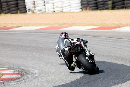 High speed Superbike on the circuit � Kayalami, South Africa � Movement on elements of the image. Stock Photo - 502942