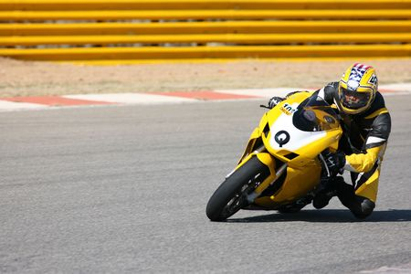 High speed Superbike on the circuit � Kayalami, South Africa � Movement on elements of the image. Stock Photo - 502943