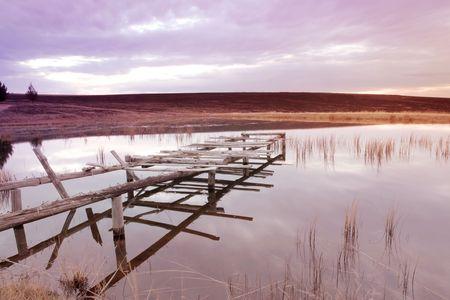 flyfishing: Landscape of a fly-fishing dam.