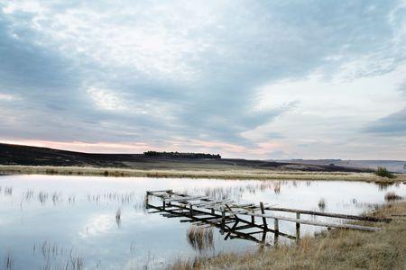 flyfishing: Landscape of a fly-fishing dam