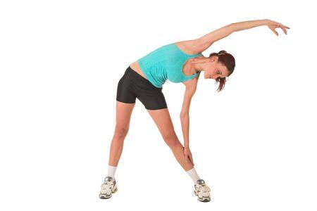 Woman stretching. Stock Photo - 526604