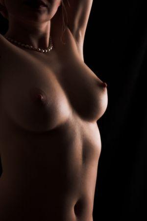 tieten: Prachtige vrouwelijke borsten Stockfoto