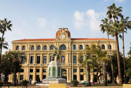 ville: The Hotel de Ville in Cannes, France Stock Photo