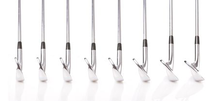 pitching: Set of Professional Golf Clubs from a 3-iron to a Pitching Wedge � Traditional Blades