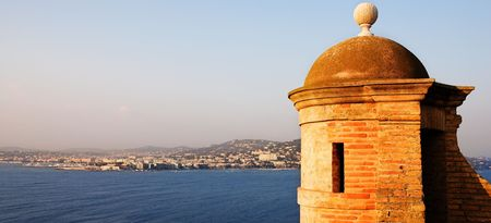 The Famous Ile Sainte Marguerite – Island Jail, across from Cannes, France Stock Photo - 591464