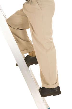 Man climbing the corporate ladder. Stock Photo - 841599