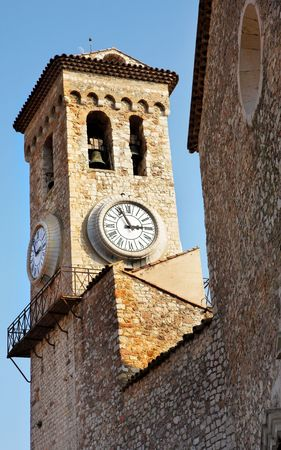 clock tower: Clock tower on the La Tour Du Suquet in Cannes, France