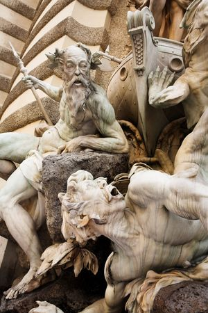 austrian: The statues of Hercules outside the Hoffberg Palace