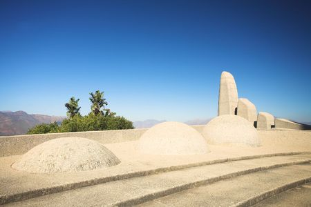 Famous landmark of the Afrikaans Language Monument in Paarl, Western Cape, South Africa photo