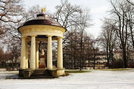 johannes: Tribute to Johannes Kepler in a park in Regensburg, Germany during a suny day in winter