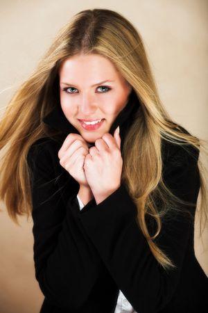 Portrait of a beautiful young Caucasian woman photo
