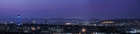 Panoramic view of Pretoria in South Africa. HDR type image of city skyline right after sunset.
