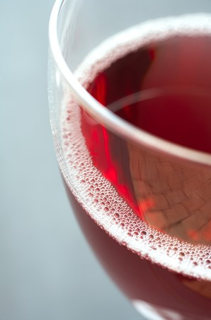 redwine: Glass of freshly poured red wine Stock Photo