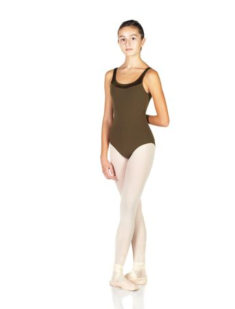 Young female ballet dancer showing various classic positions on a white background. NOT ISOLATED photo