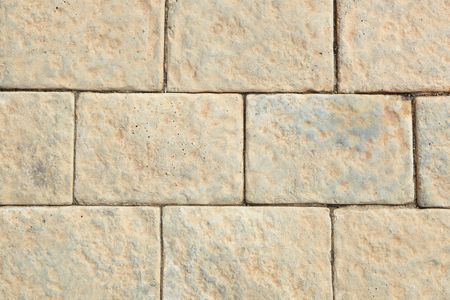 Brown pavement bricks background photo