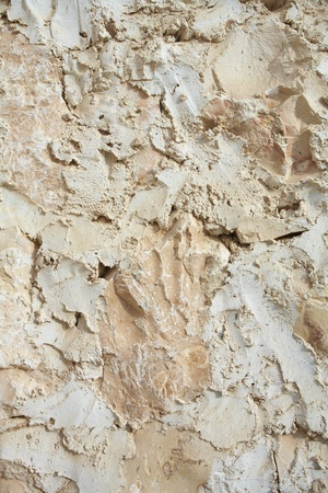 Traditional wall plaster found on the walls of the homes and buildings of the desert town of Al Wakrah (Al Wakra), Qatar, in the Middle East Stock Photo - 11706108