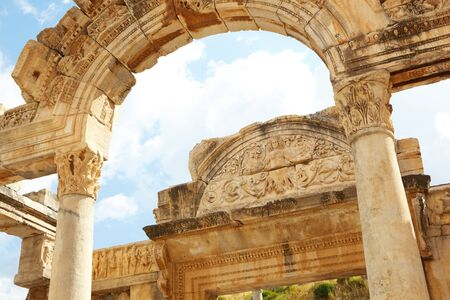 Hadians Temple in the old ruins of the city of Ephesus in modern day Turkey Stock Photo - 11706098