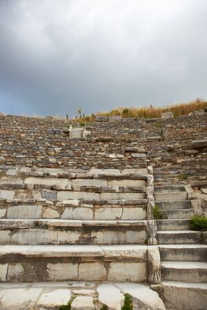 The old ruined small amphitheater of the city of Ephesus in modern day Turkey Stock Photo - 12343031