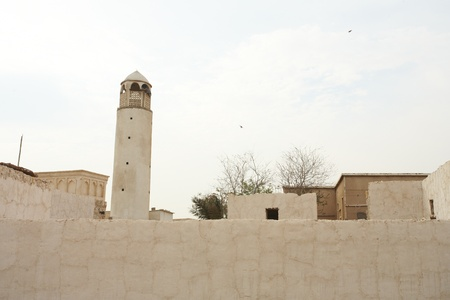 Empty buildings and Mosque in the desert town of Al Wakrah (Al Wakra), Qatar, in the Middle East Stock Photo - 12804845