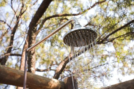 Outdoor shower in the african bush Stock Photo - 17347081
