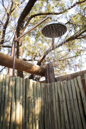 Outdoor shower in the african bush Stock Photo - 17330662