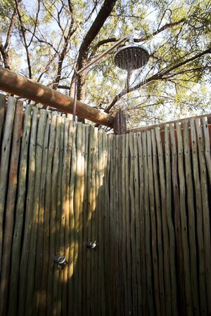 Outdoor shower in the african bush Stock Photo - 17347116