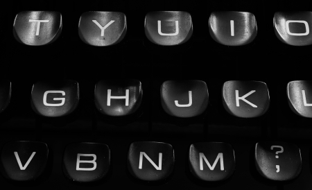 A Closeup image of the keys and keyboard of an old style typewriter Stock Photo - 18406566