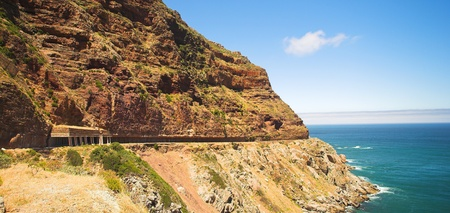 The dangerous winding road on Chapmans Peak, South Africa Stock Photo - 19372832