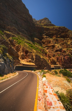 The dangerous winding road on Chapmans Peak, South Africa Stock Photo - 19373004