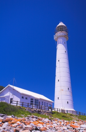 The Historical Slangkop Lighthouse at Kommetjie in the Western Cape, South Africa Stock Photo - 19372762