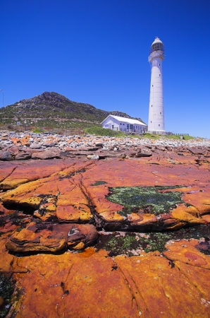 The Historical Slangkop Lighthouse at Kommetjie in the Western Cape, South Africa Stock Photo - 19373022