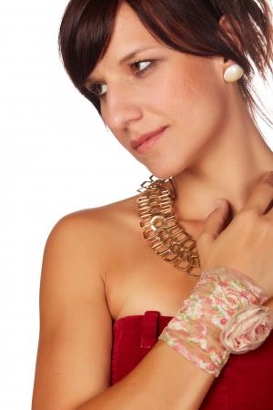 Beautiful and mature adult caucasian woman Stock Photo - 20335258
