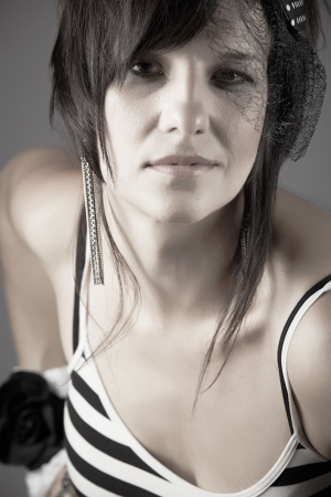 Beautiful and mature adult caucasian woman Stock Photo - 20335263