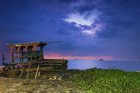 sunset sky at pantai remis jeram kuala selangor Stock Photo
