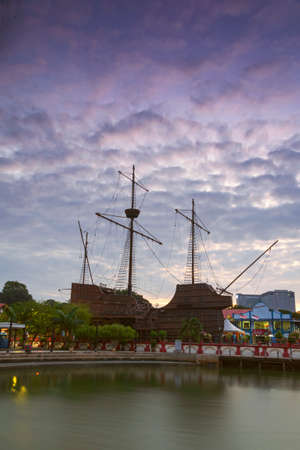 Sunrise view at maritime museum melaka Editorial