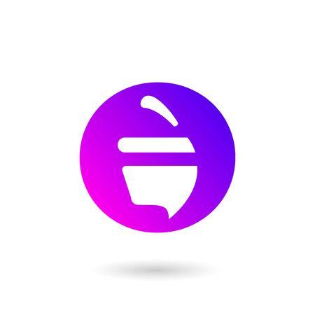 walnut gradient mobile app logo 일러스트