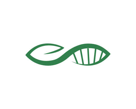 Abstract biotechnology leaf dna logo design. green energy, medicine, science, technology, laboratory, electronics logotype vector icon. Иллюстрация
