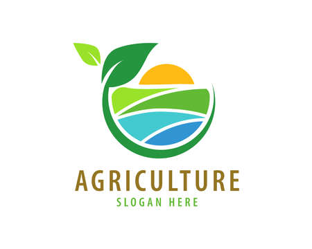 Agriculture logo template suitable for businesses and product names. This stylish logo design could be used for different purposes for a company, product, service or for all your ideas.