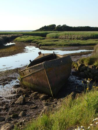decomposition: Old wooden boat