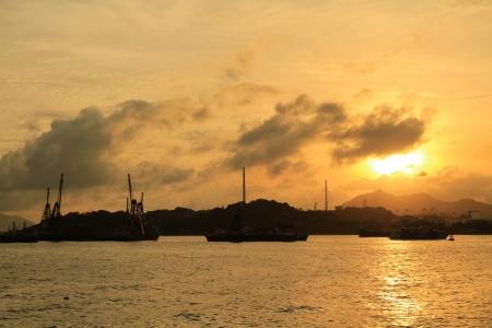 Sunset Near Hong Kong  photo