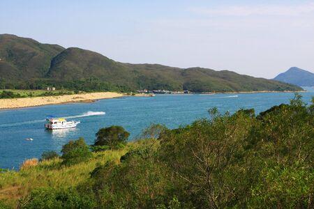coastal feature: Scenic coast Stock Photo