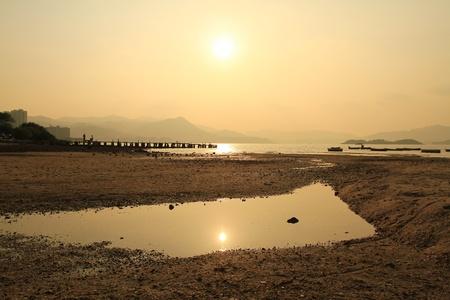 Sunset In beach photo