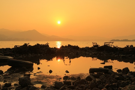 Sunset In beach Stock Photo - 11316915