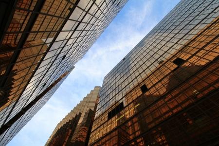 buliding: golden window bulding Stock Photo