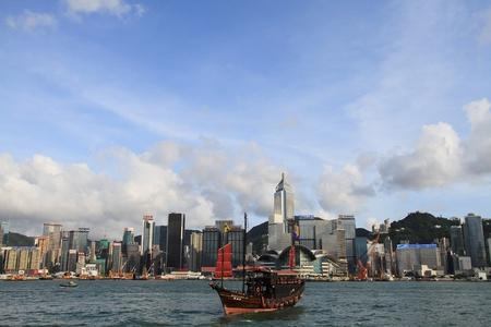 China, Junk In Hong Kong Harbor