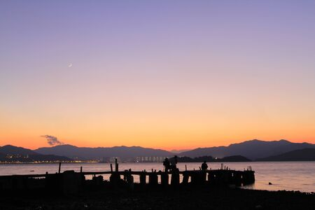 coastal feature: Sunset In beach