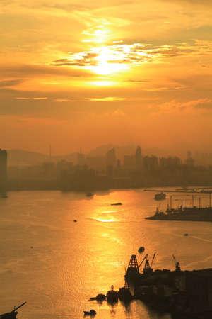 sunset of city Stock Photo - 16328782