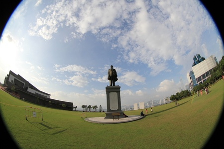 yat sen: Sun Yat-Sen Memorial park In  hong kong