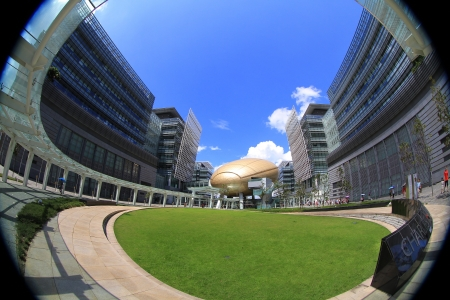 De Hong Kong Science and Technology Parks Stockfoto